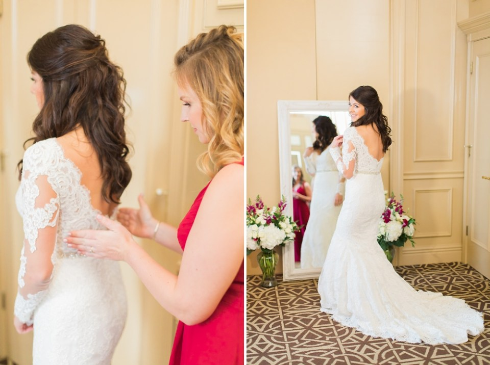 The Corinthian Wedding Bride Getting Dressed by Cotton Collective