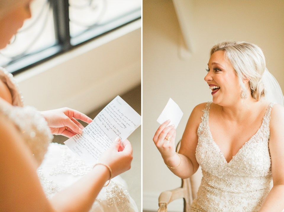 bride letter from groom