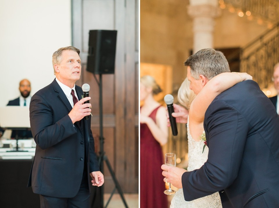 father toast to bride and groom