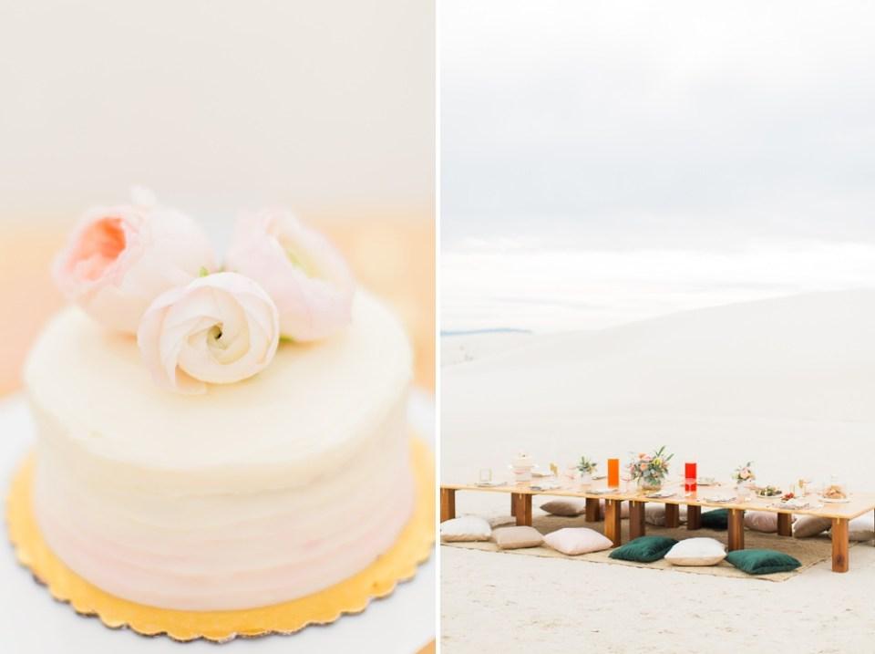 White Sands Wedding Reception Details