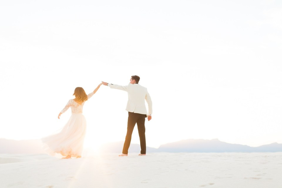 White Sands Wedding Day adventurous elopement