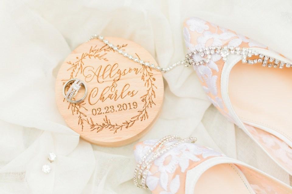 bride shoes details