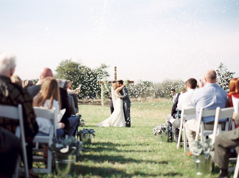 Round Top Wedding Kiss