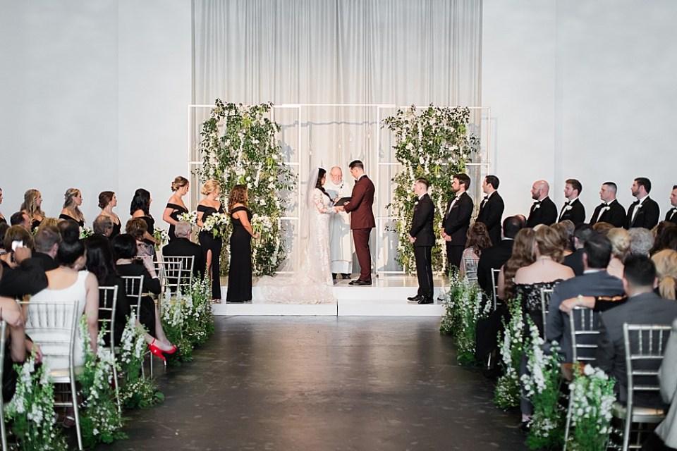 wedding ceremony at the revaire