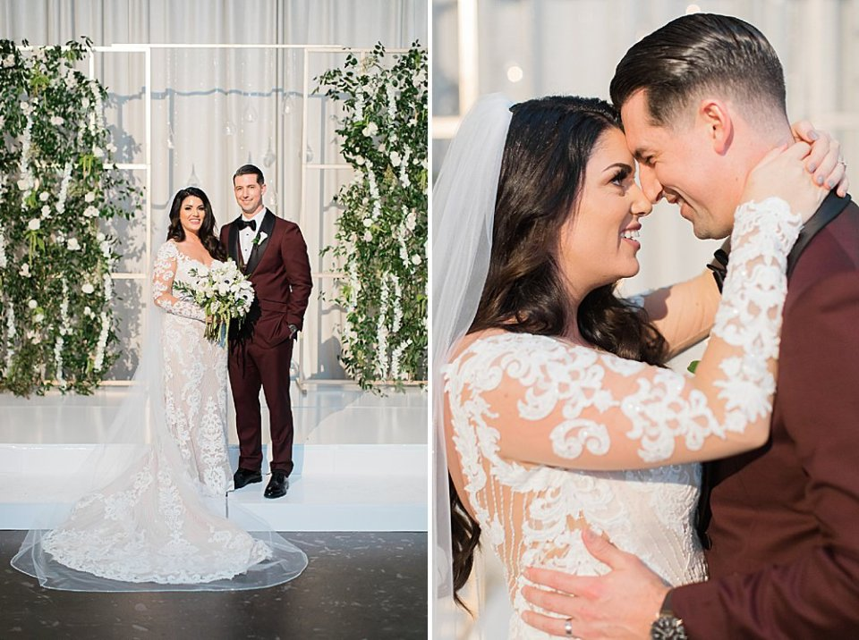 sweet bride and groom portraits