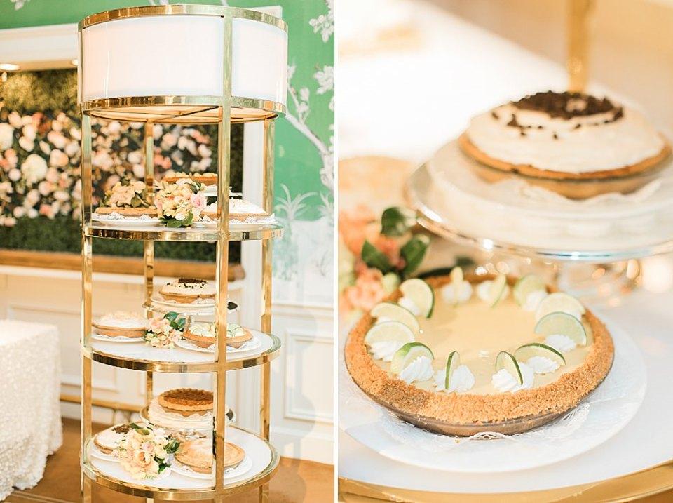 wedding reception desserts