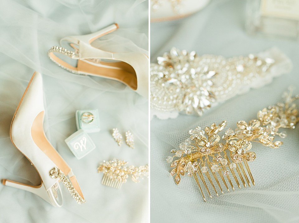 Bride wedding shoes details