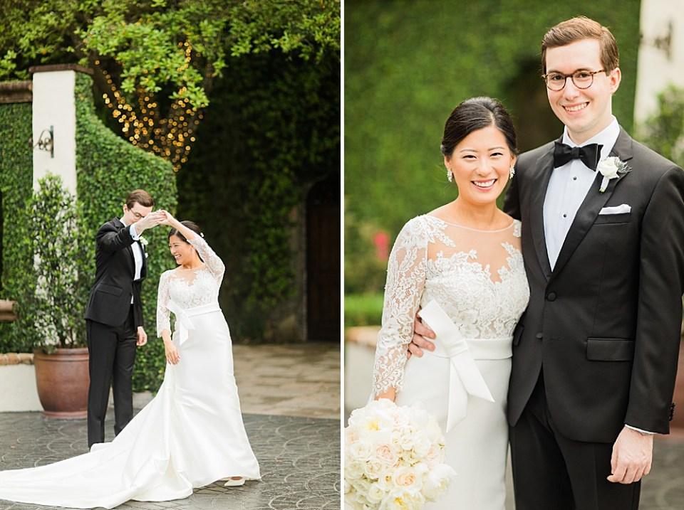 bride and groom houston portraits