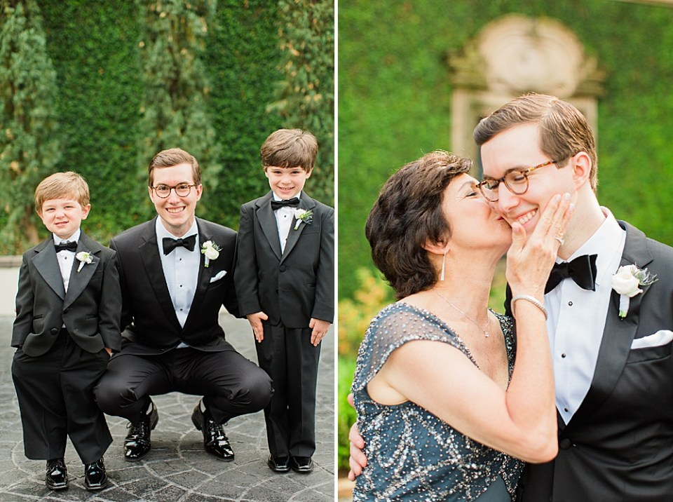 groom and mother portraits