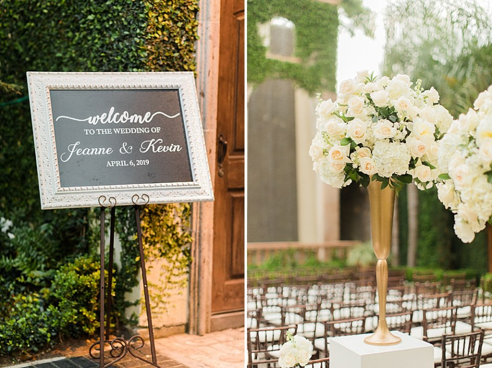 houston wedding at the bell tower details