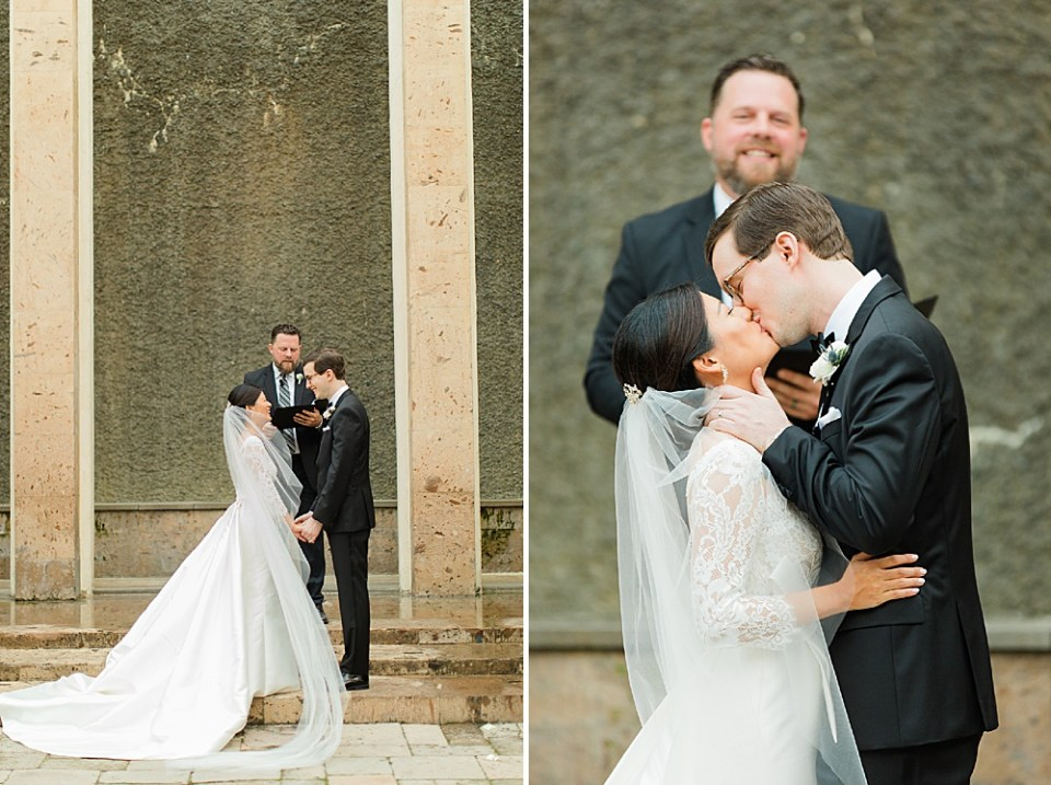 houston ceremony kiss