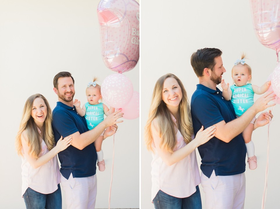 gender reveal photoshoot