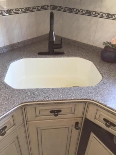 very unique corian sink replacement