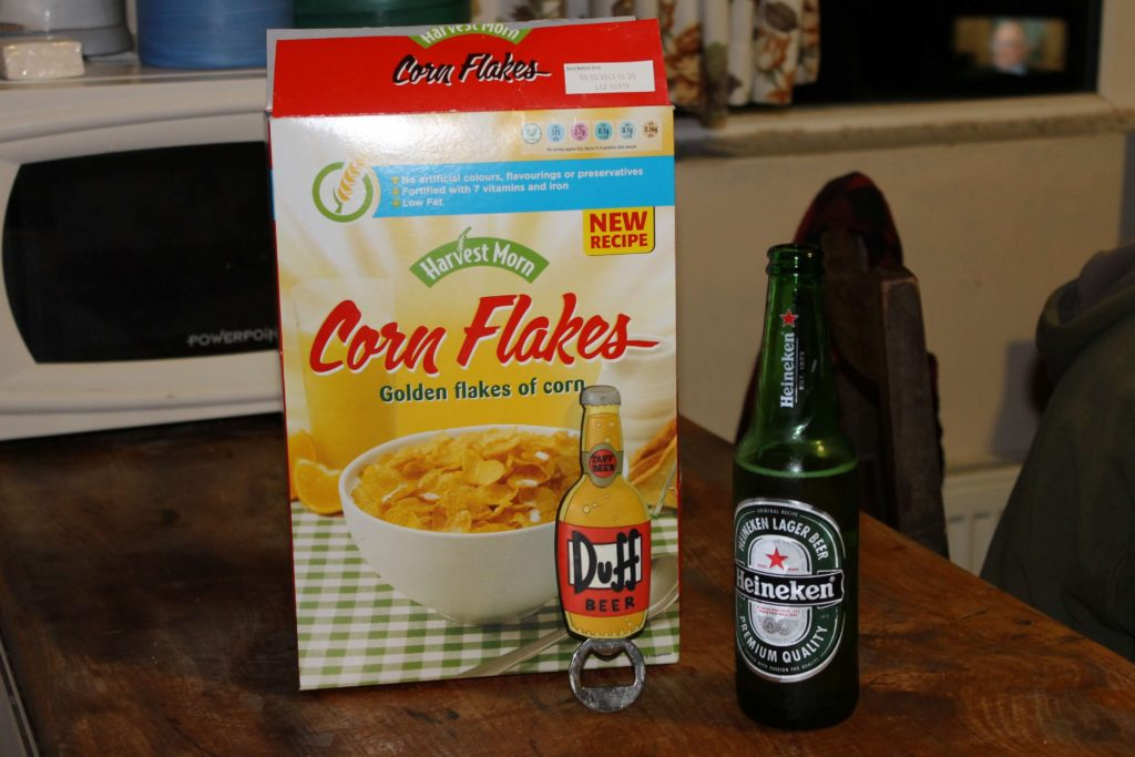 Beer and cornflakes