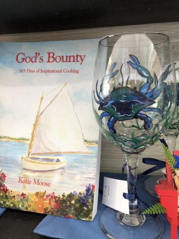 Hand Painted Crab Glass