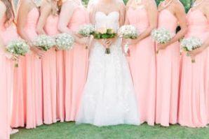 Elegant simple babies breath bridesmaids bouquets