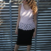 Outfit for the Office: Pink Peplum & Python