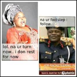 Dame the real Oga at the top