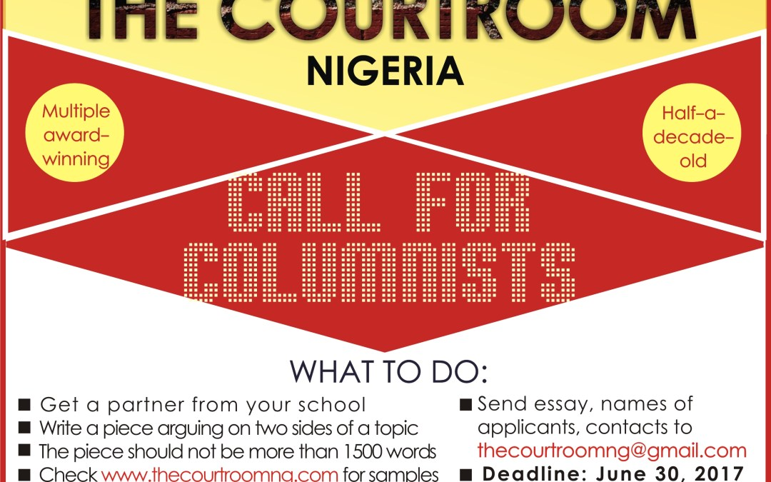 The Courtroom: CALL FOR COLUMNISTS!