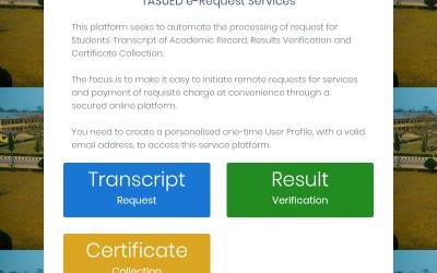 TASUED E-REQUEST SERVICES: A REMARKABLE DEVELOPMENT?