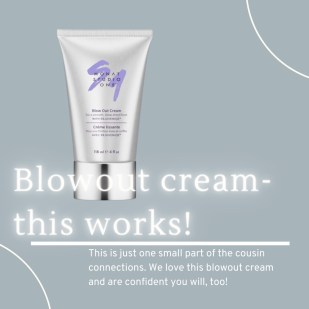 Monat blow out cream. hair products we love