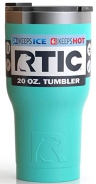 RTIC mugs - really hold up to their promise and keep hot drinks hot and cold drinks cold.