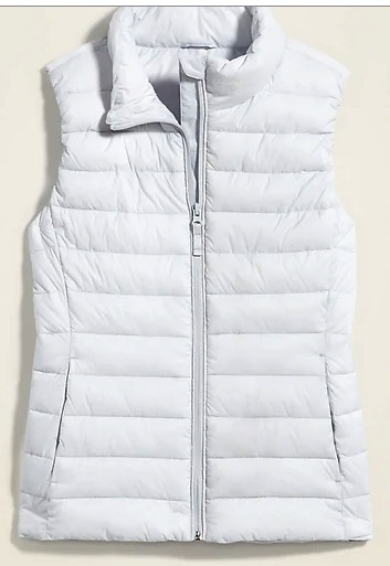 a very affordable puffy vest ANYONE would wnat in their wardrobe.