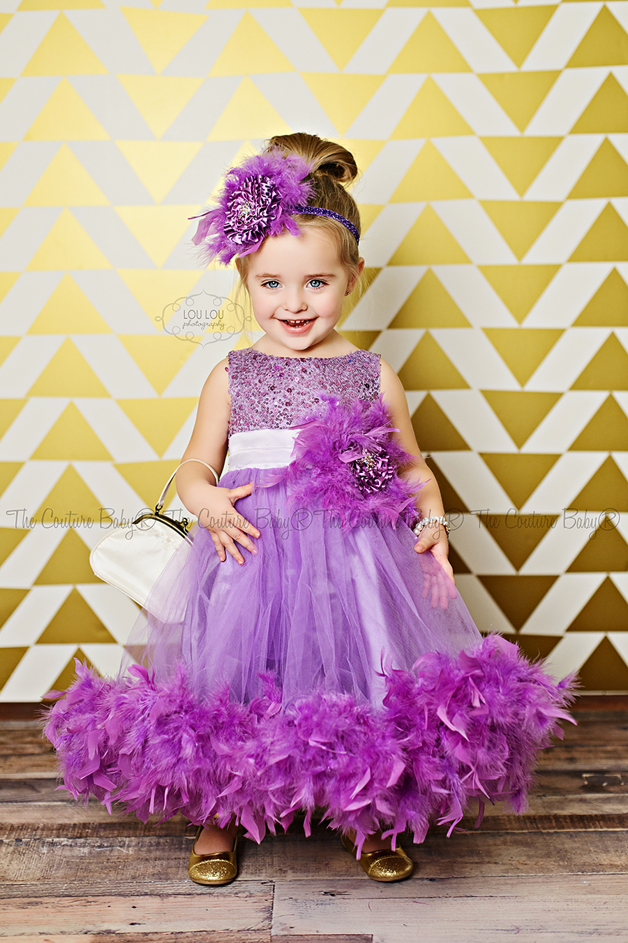 Purple Pizzaz Sparkle Feather Dress The Couture Baby