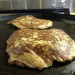The Best Paleo Pancakes Ever flipped