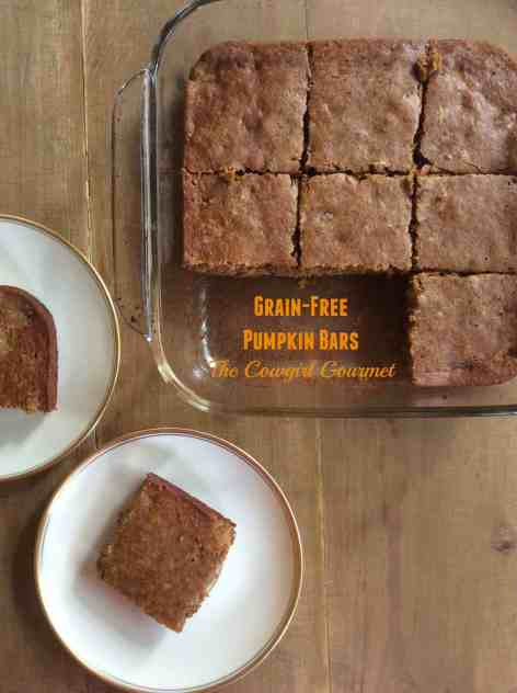 Grain-free pumpkin bars