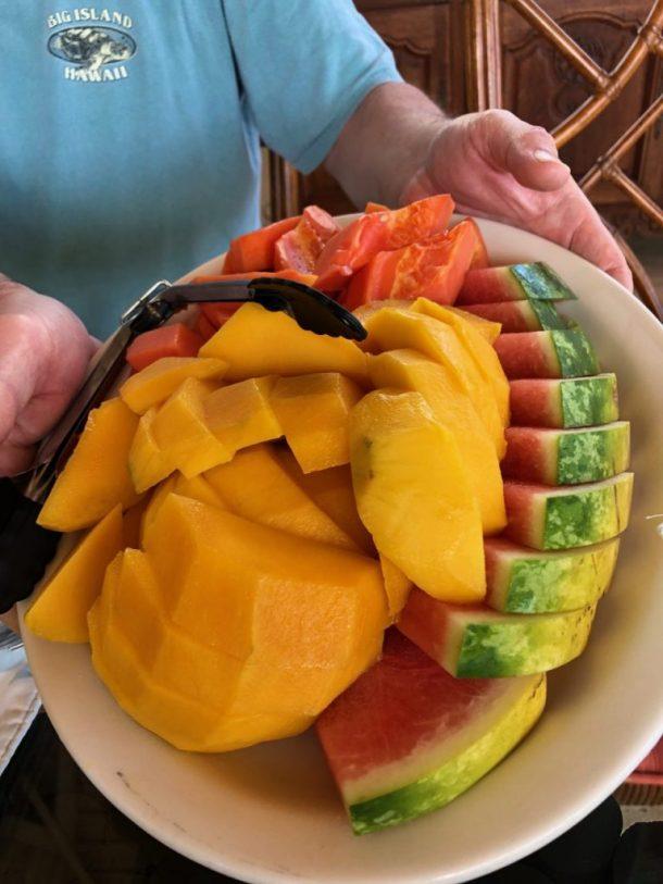 Jamaican fruit plate