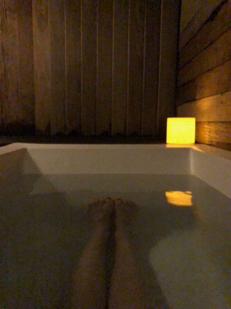 Sunrise Springs mineral bath