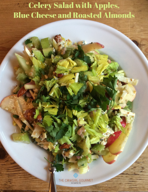 Celery salad with apples and blue cheese