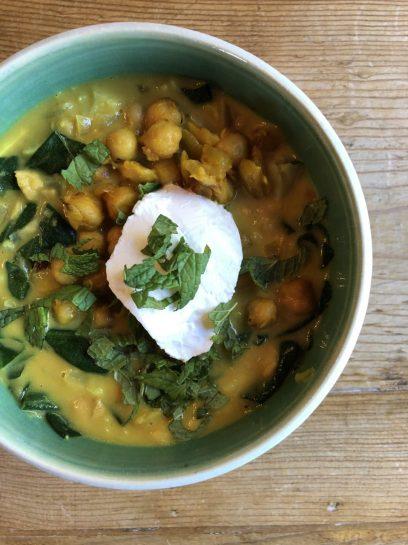 Spicy Chickpea and Cauliflower Stew