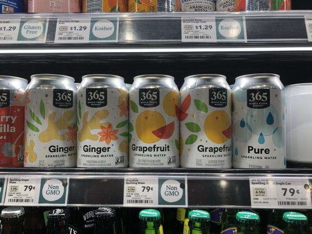 365 Sparkling Water Single Cans