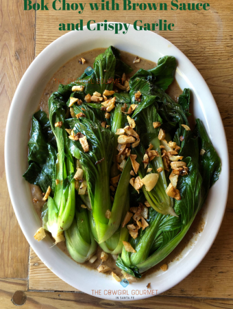 Bok Choy with Brown Sauce and Crispy Garlic Featured Image