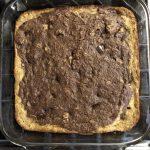 Banana bread brownies baked