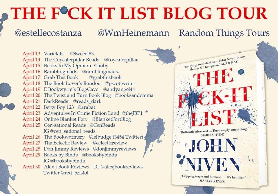 FINAL F ck It List BT Poster  - Blog Tour: The F*ck-It List by John Niven