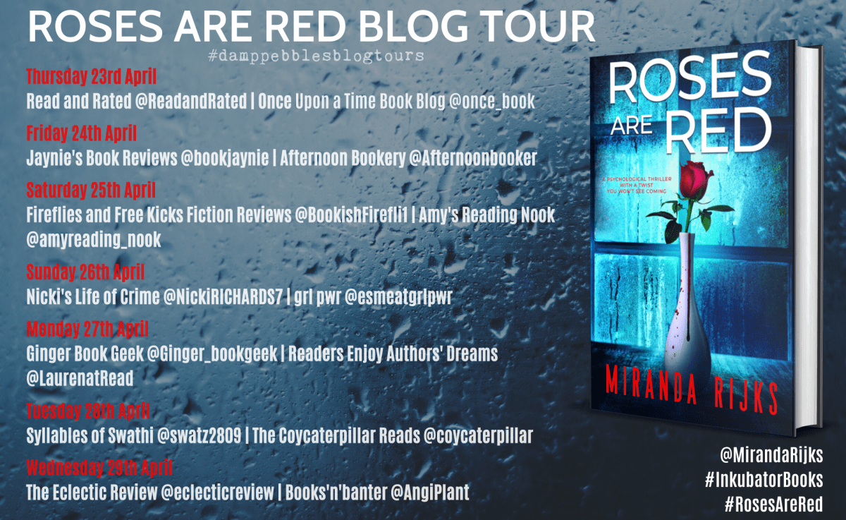 Roses Are Red banner - Blog Tour: Roses Are Red by Miranda Rijks