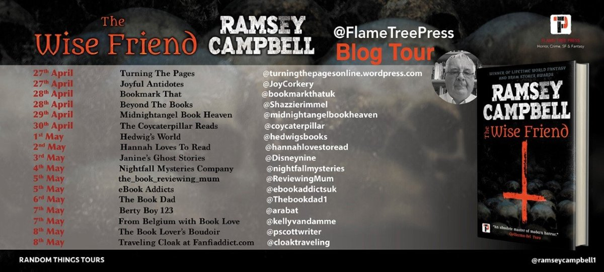 The Wise Friend BT Poster  - Blog Tour: The Wise Friend by Ramsey Campbell
