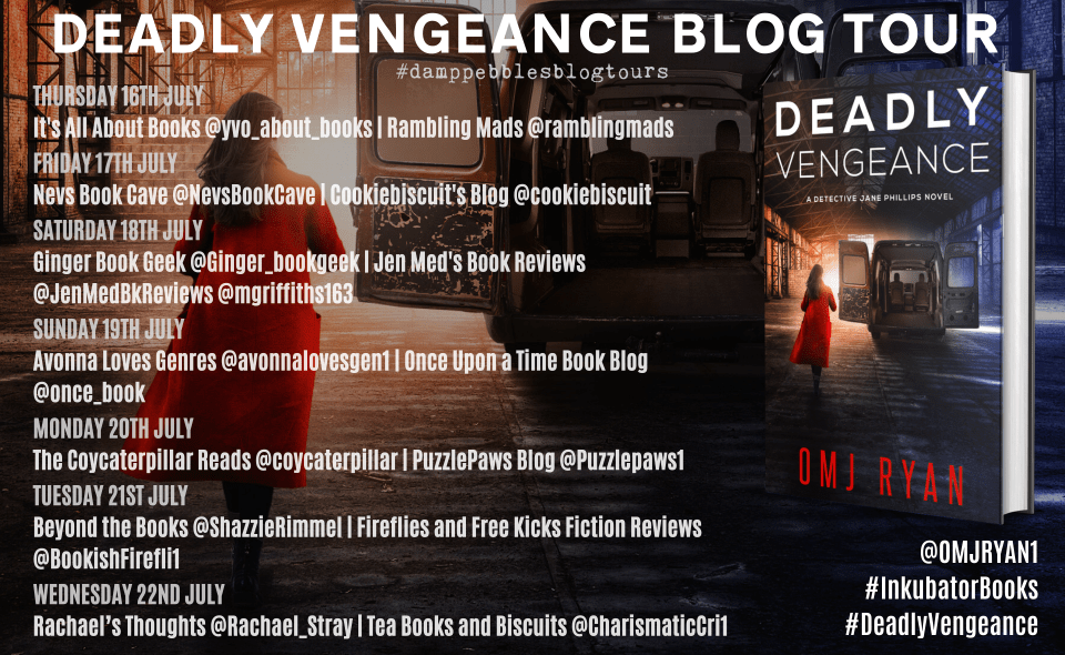 Deadly Vengeance banner - Deadly Vengeance by OMJ Ryan|Blog Tour