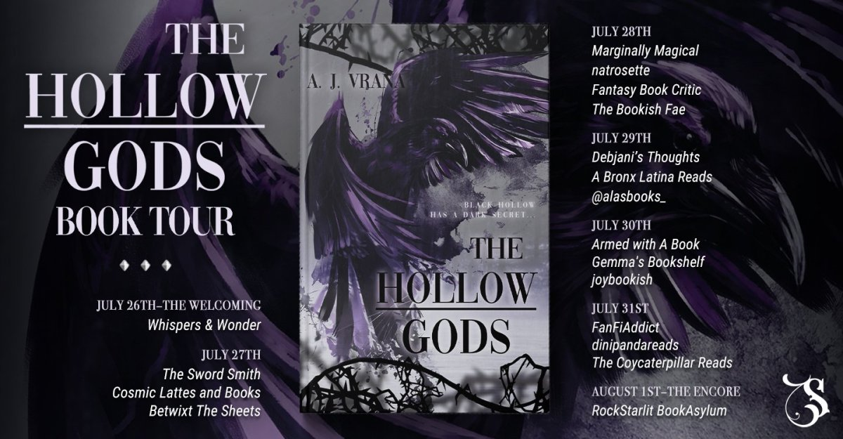 the hollow gods vrana banner hosts v2 - The Hollow Gods by A.J. Vrana | Blog Tour