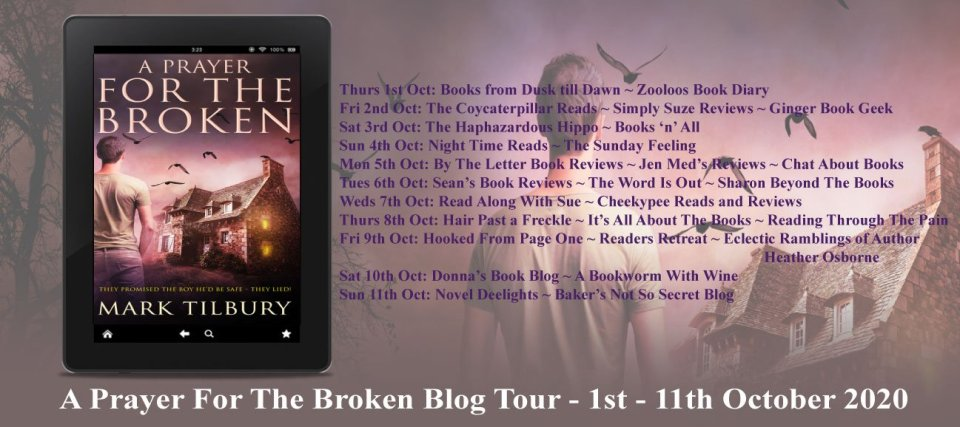 Blog tour graphic - A Prayer For The Broken by Mark Tilbury | Blog Tour