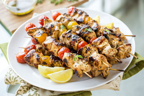 Image result for Grilled Lemon Kabobs