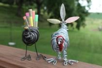 Piggy Finish & Black Turkey Sculpture 030