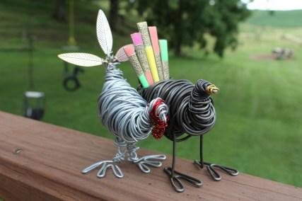Piggy Finish & Black Turkey Sculpture 032