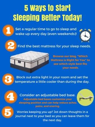 5 ways to better sleep