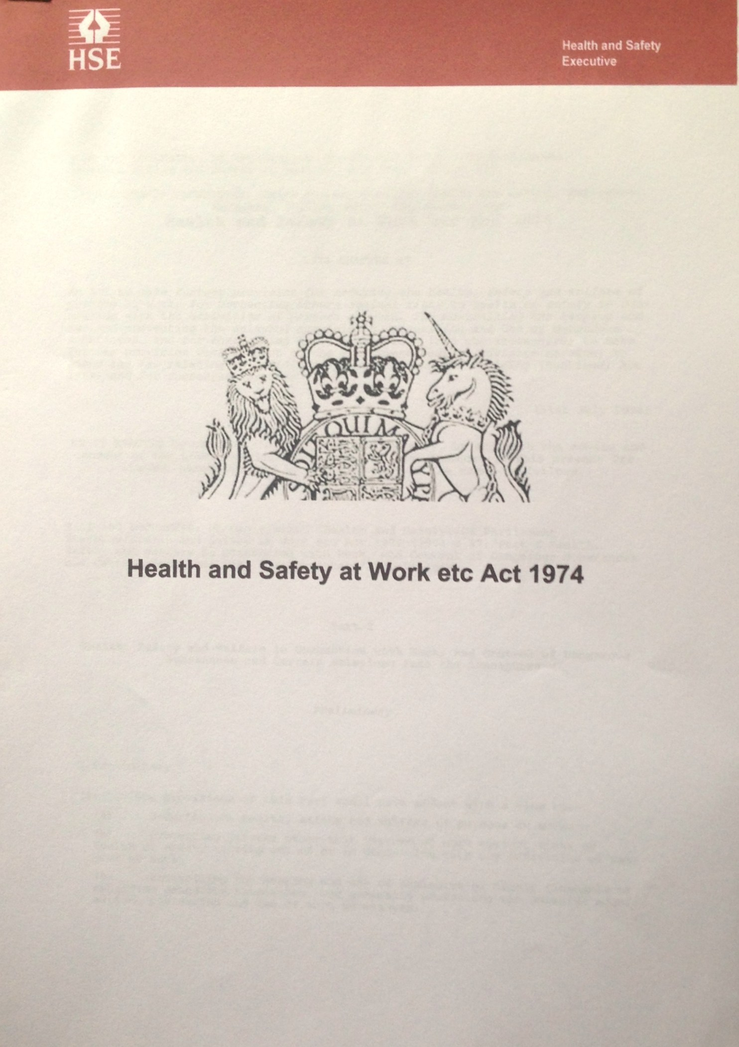 CPDG Health and Safety act 1974