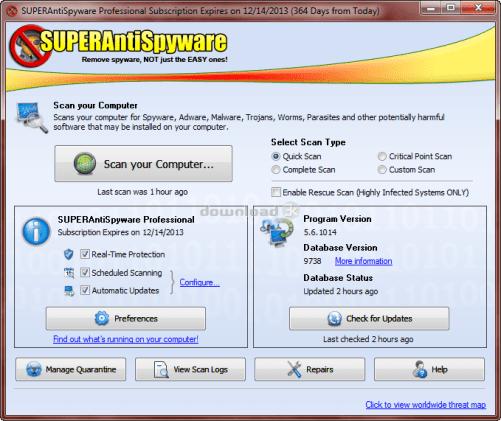 SUPERAntiSpyware Full Version Crack + Serial Key Free DownloadSUPERAntiSpyware Full Version Crack + Serial Key Free Download