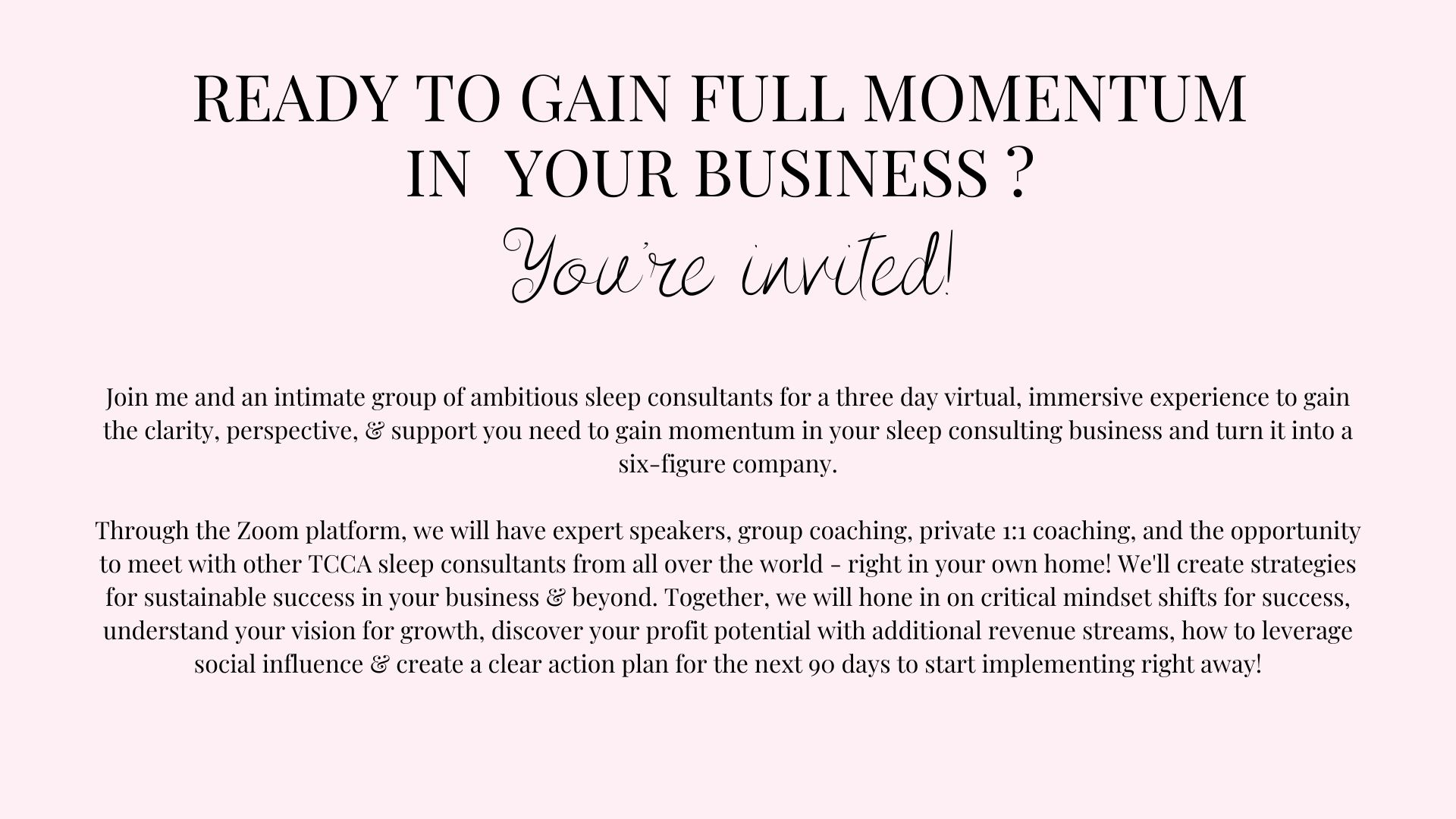 Details about the Momentum virtual retreat